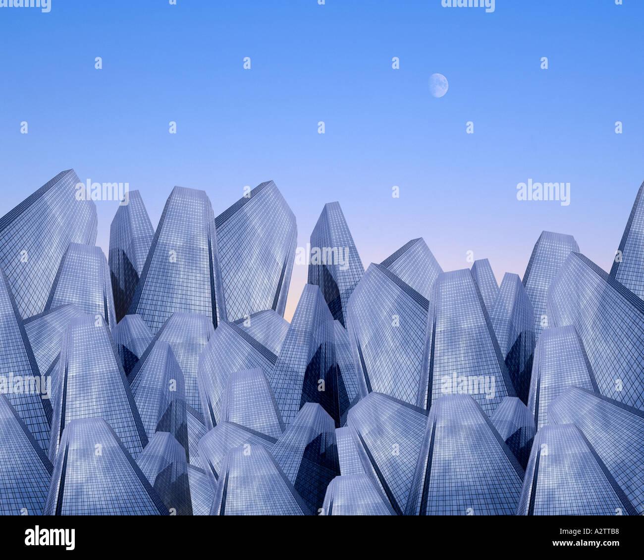 DIGITAL ART: Metropolis - Stock Image