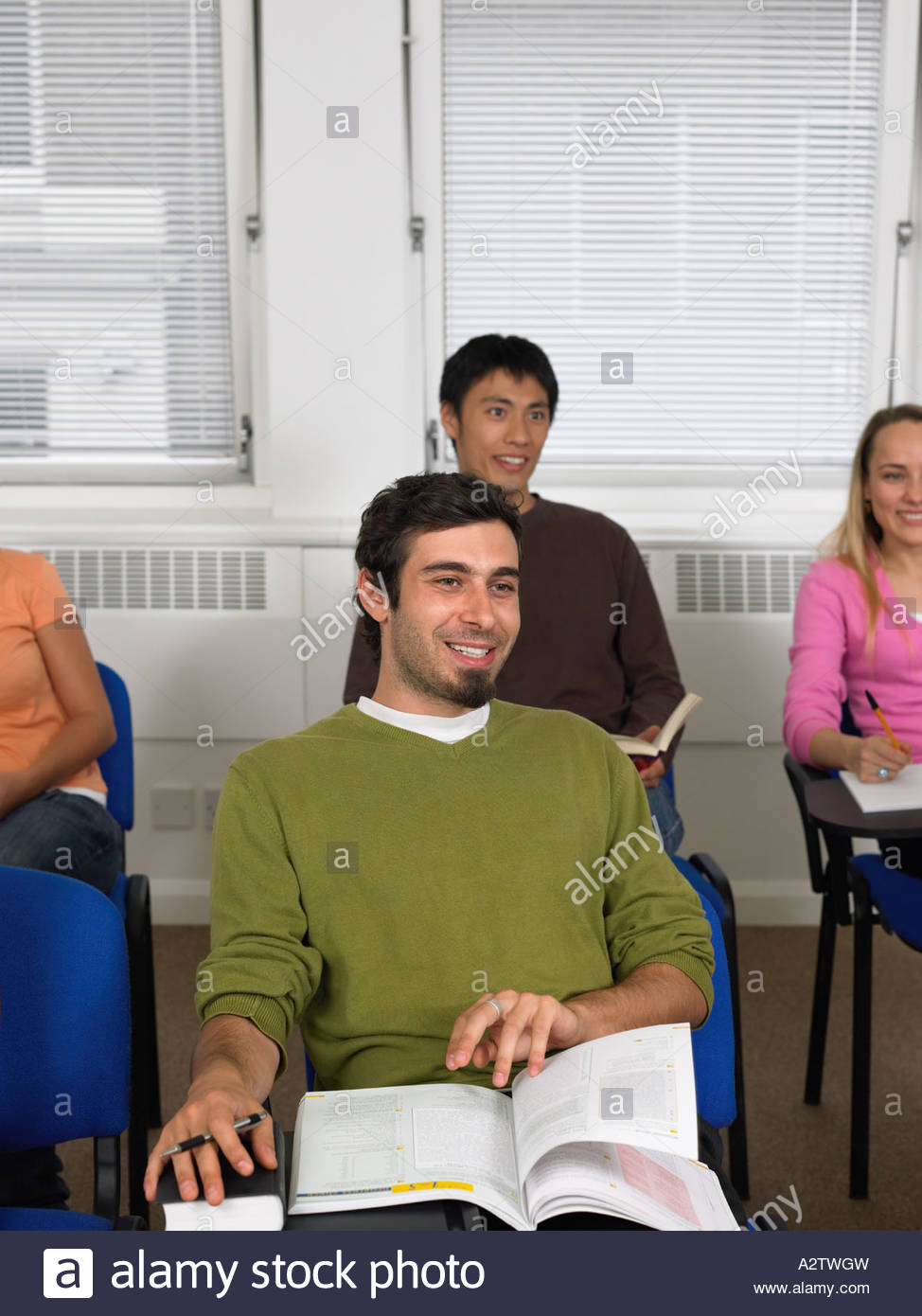 Students sat in a lesson - Stock Image