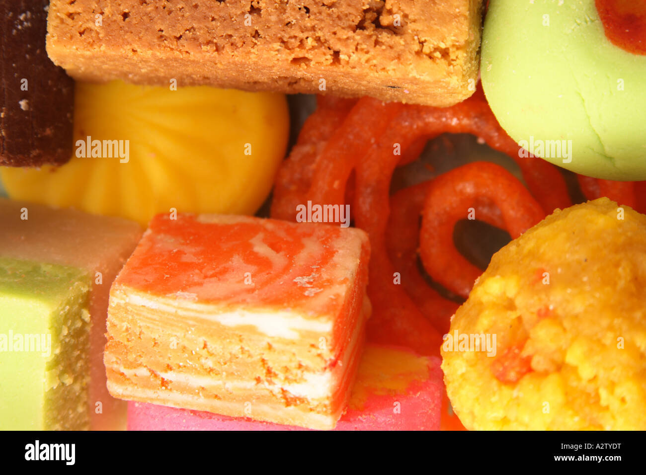 variety of indian sweets - Stock Image
