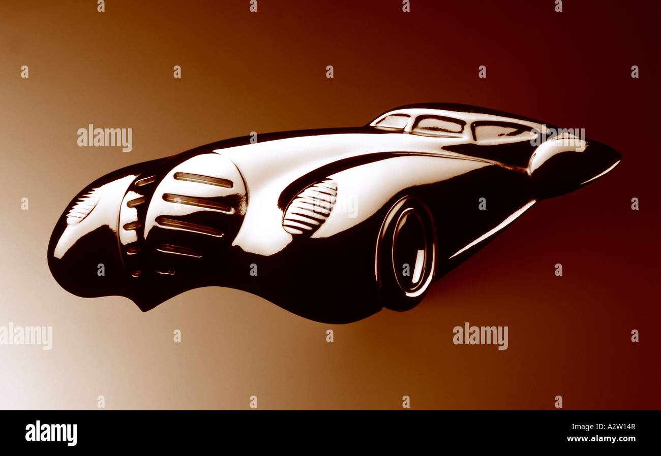 MODEL CHROME CAR - Stock Image