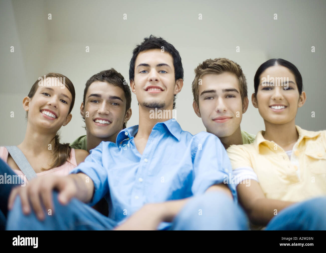 Group of teenage friends, portrait - Stock Image