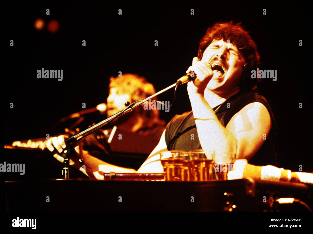 TOTO US group with lead singer Bobby Kimball Stock Photo: 10598793 ...