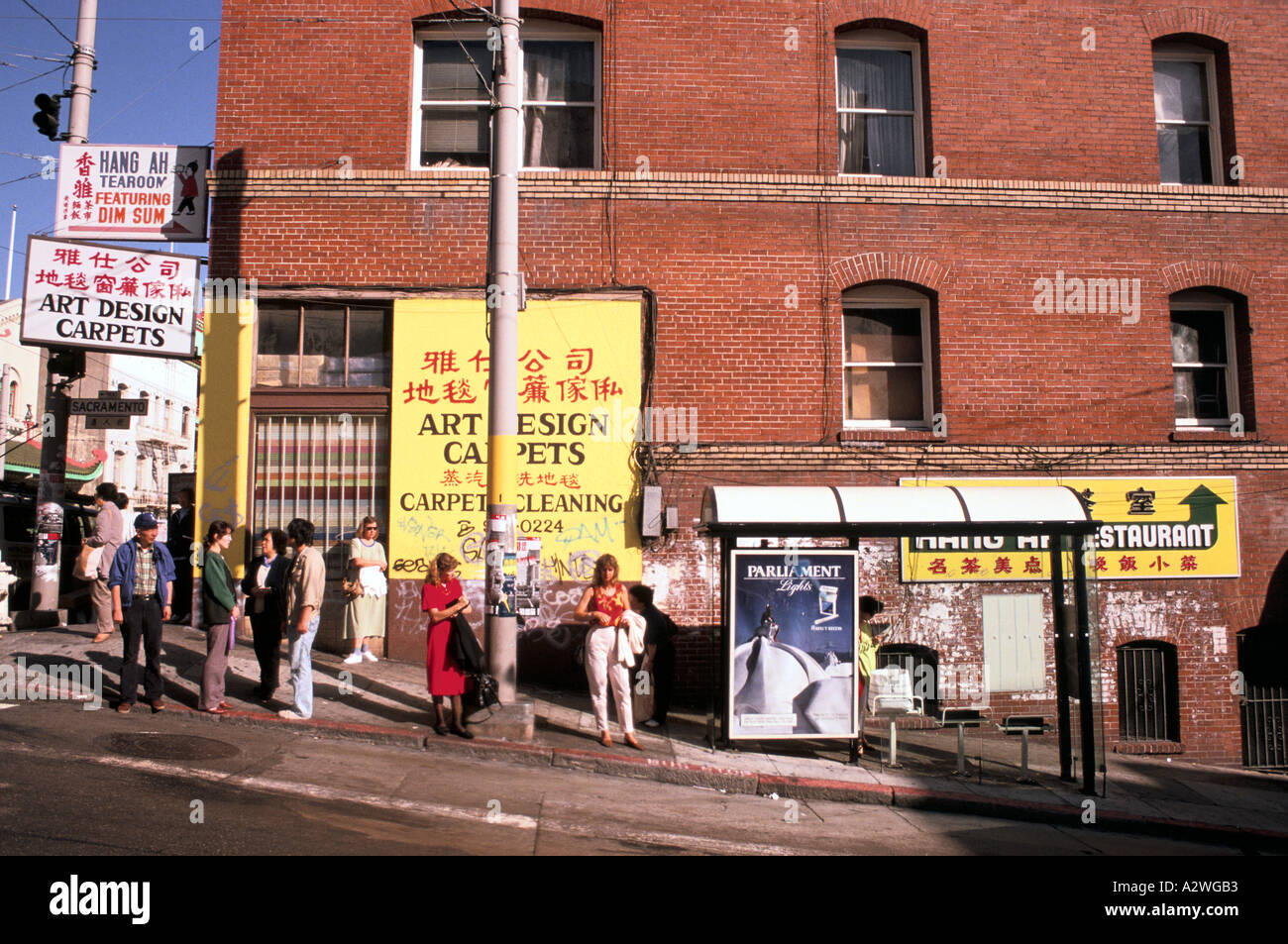 china town san francisco usa - Stock Image