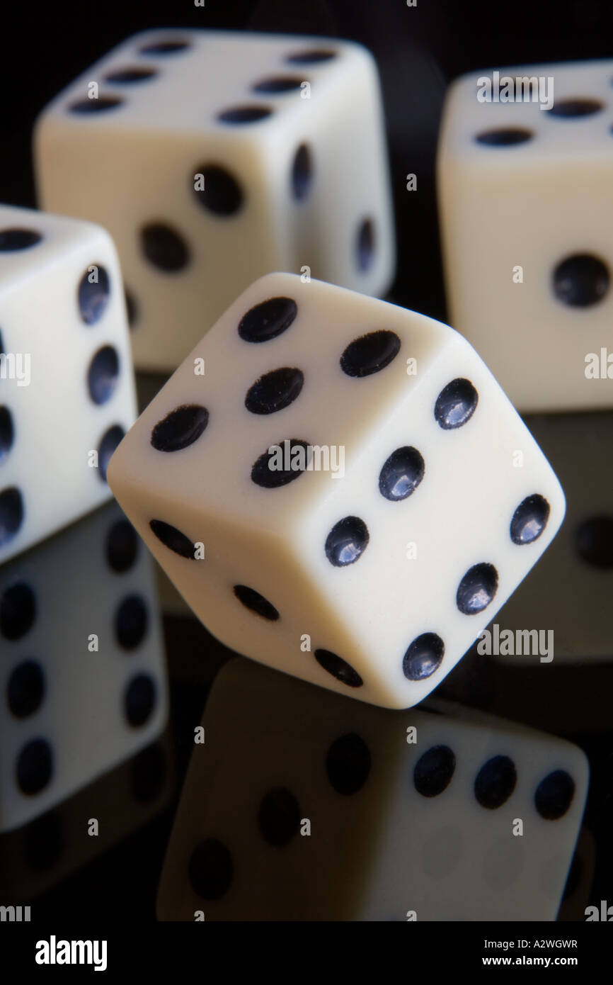 White Dice - Stock Image