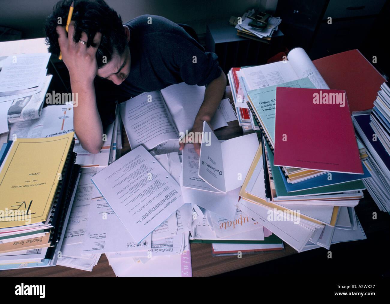 exam stress haringey london - Stock Image