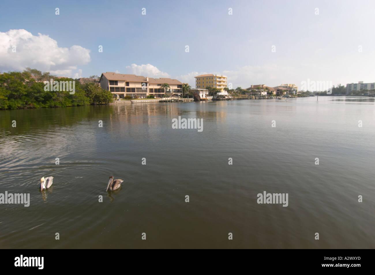 BLIND PASS LAGOON OR TURTLE BEACH LAGOON ON SIESTA KEY IN SOUTH WEST FLORIDA