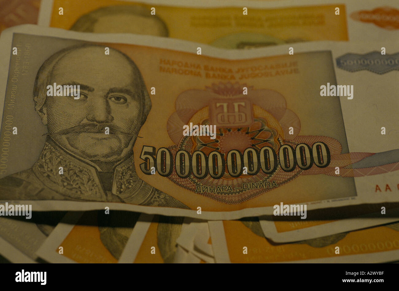 Belgrade A 50 Billion Dinar Note Worth A Us Dollar One Day And Us 50cents The Next Due To Hyperinflation Dec 1993