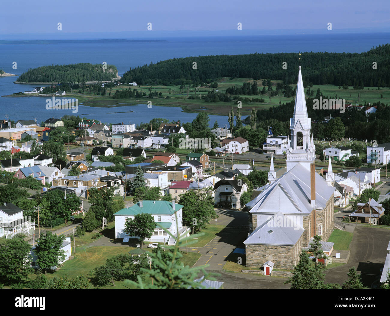Bic village bas saint laurent quebec province canada stock for Auberge des iles du bic