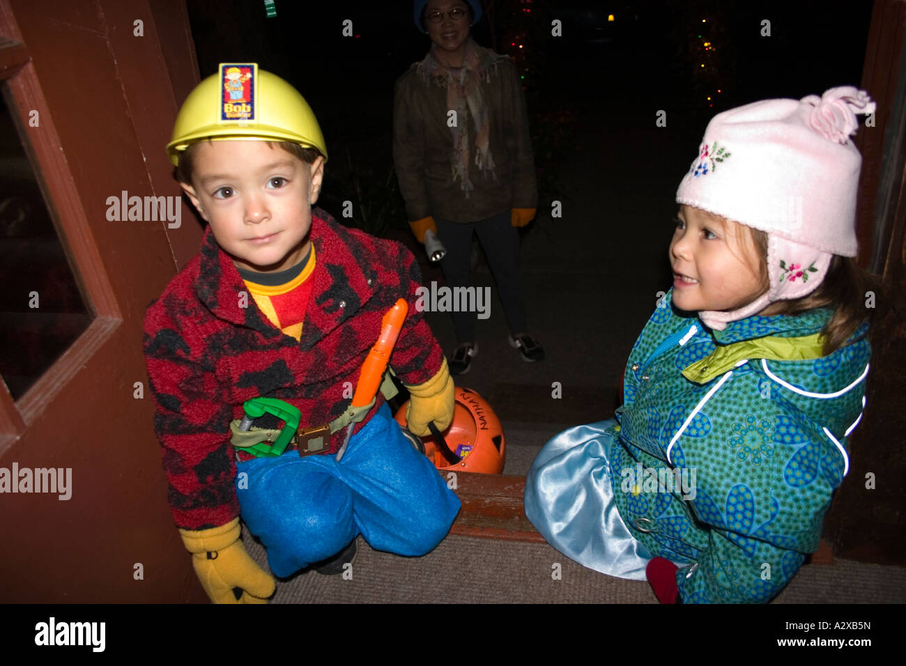 Halloween trick or treaters Asian children in costume as Bob the Builder age 2 or 3  sc 1 st  Alamy & Bob The Builder Stock Photos u0026 Bob The Builder Stock Images - Alamy