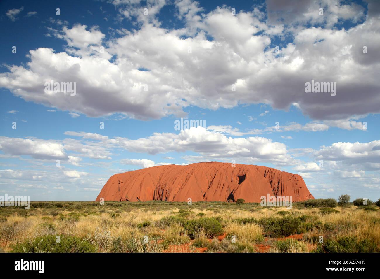 Ayers Rock - uluru - Northern Territory - Australia - Stock Image