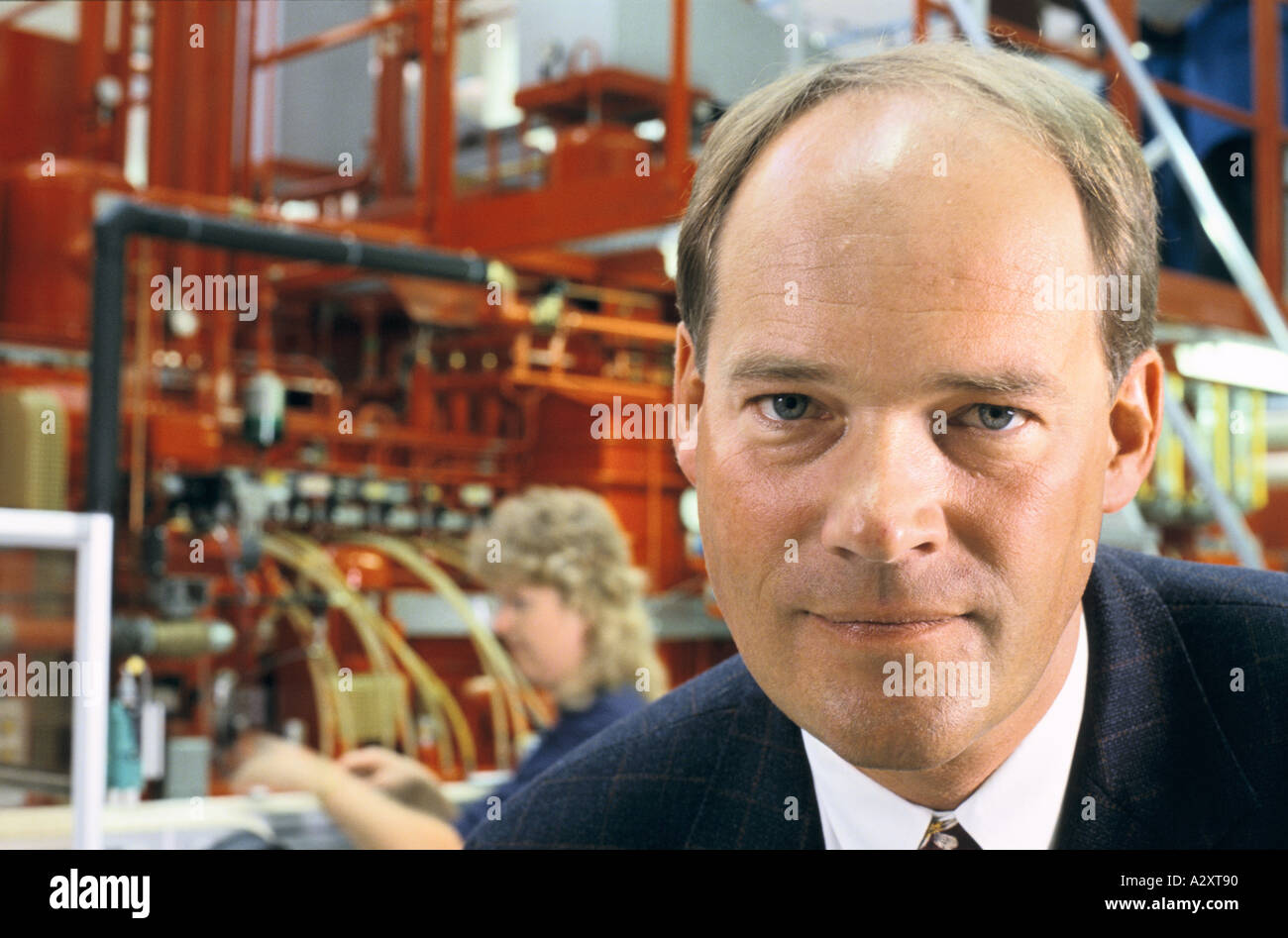 peter augustsson swedish businessman chairman skf gothnburg sweden - Stock Image