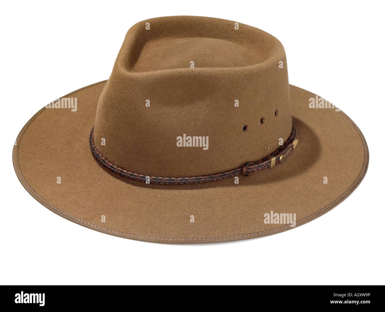 Felt cowboy hat - Stock Image