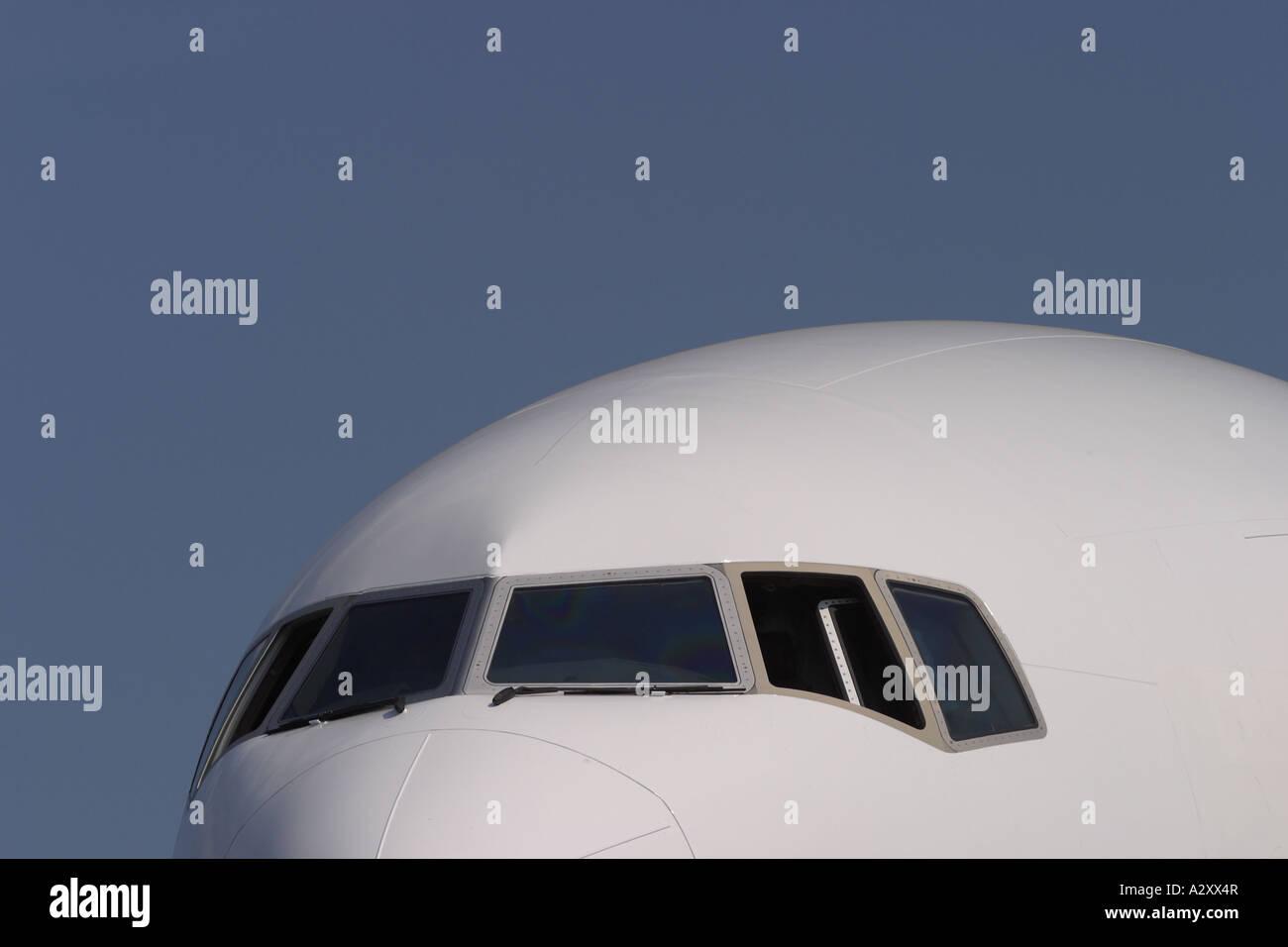 Commercial airliner passenger jet airline - Stock Image