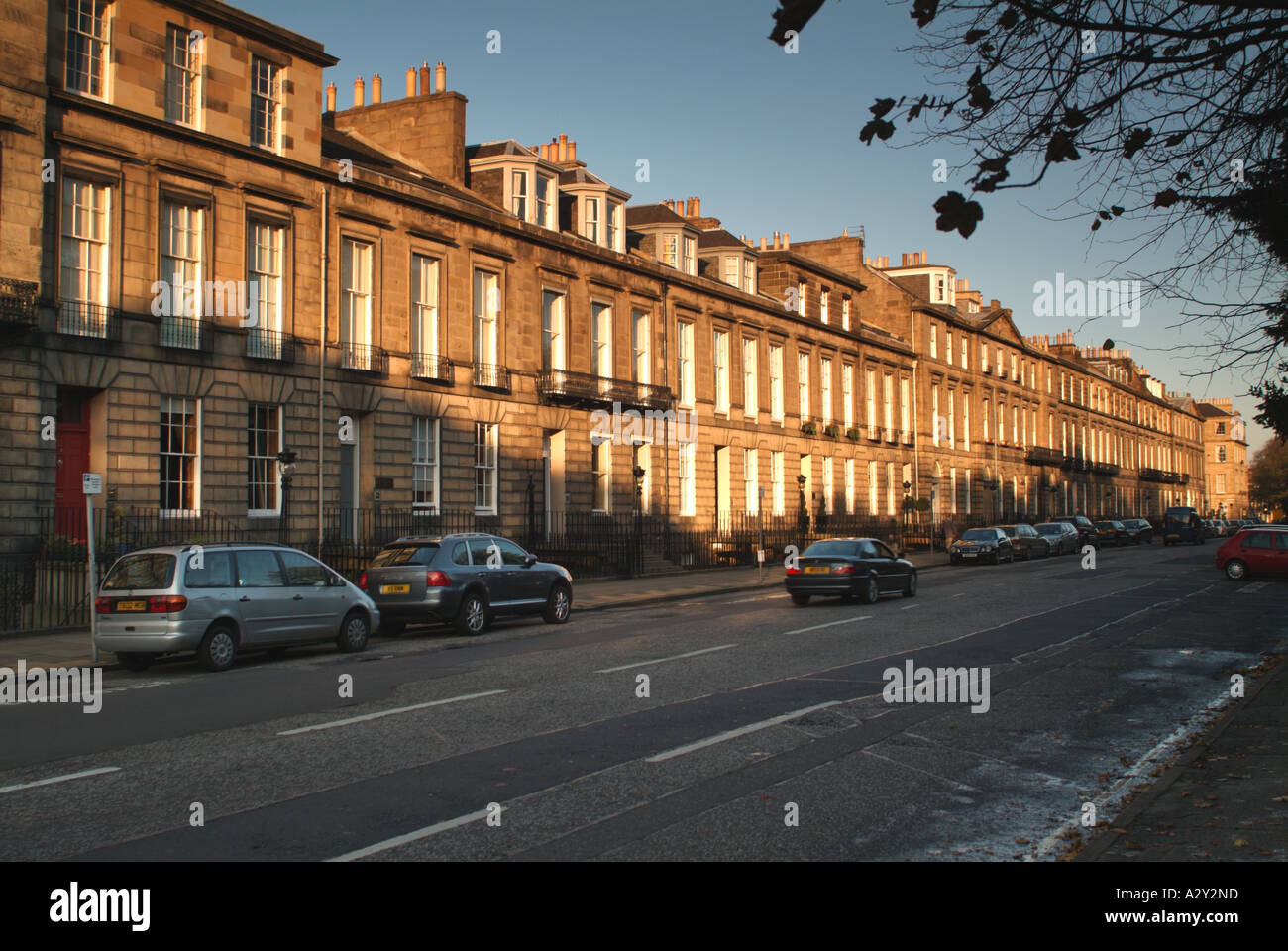 Heriot Row, New Town, Edinburgh, Scotland, UK. Stock Photo