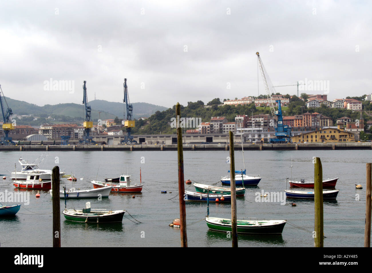 Fishing town of Pasajes San Juan near San Sebastian,  Spain - Stock Image