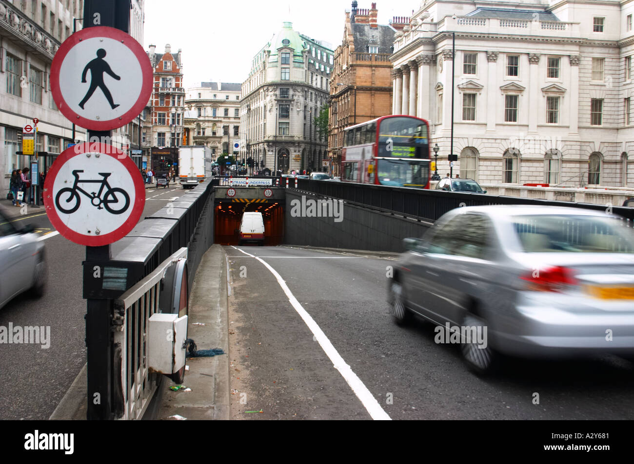 the strand underpass tunnel transport london short cut shortcut Stock Photo