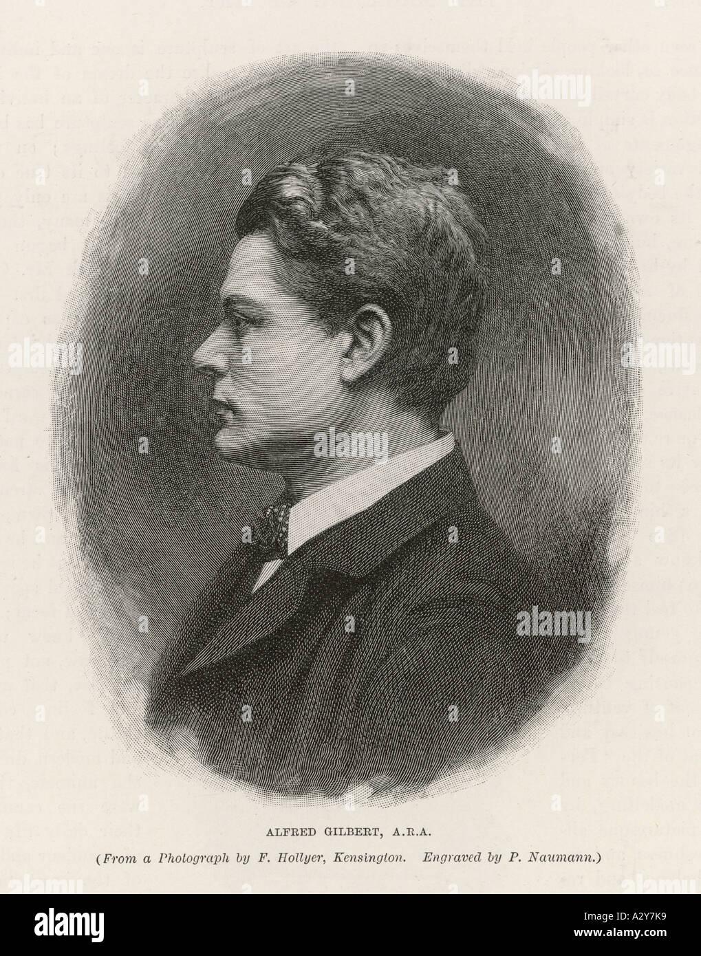 Sir Alfred Gilbert - Stock Image