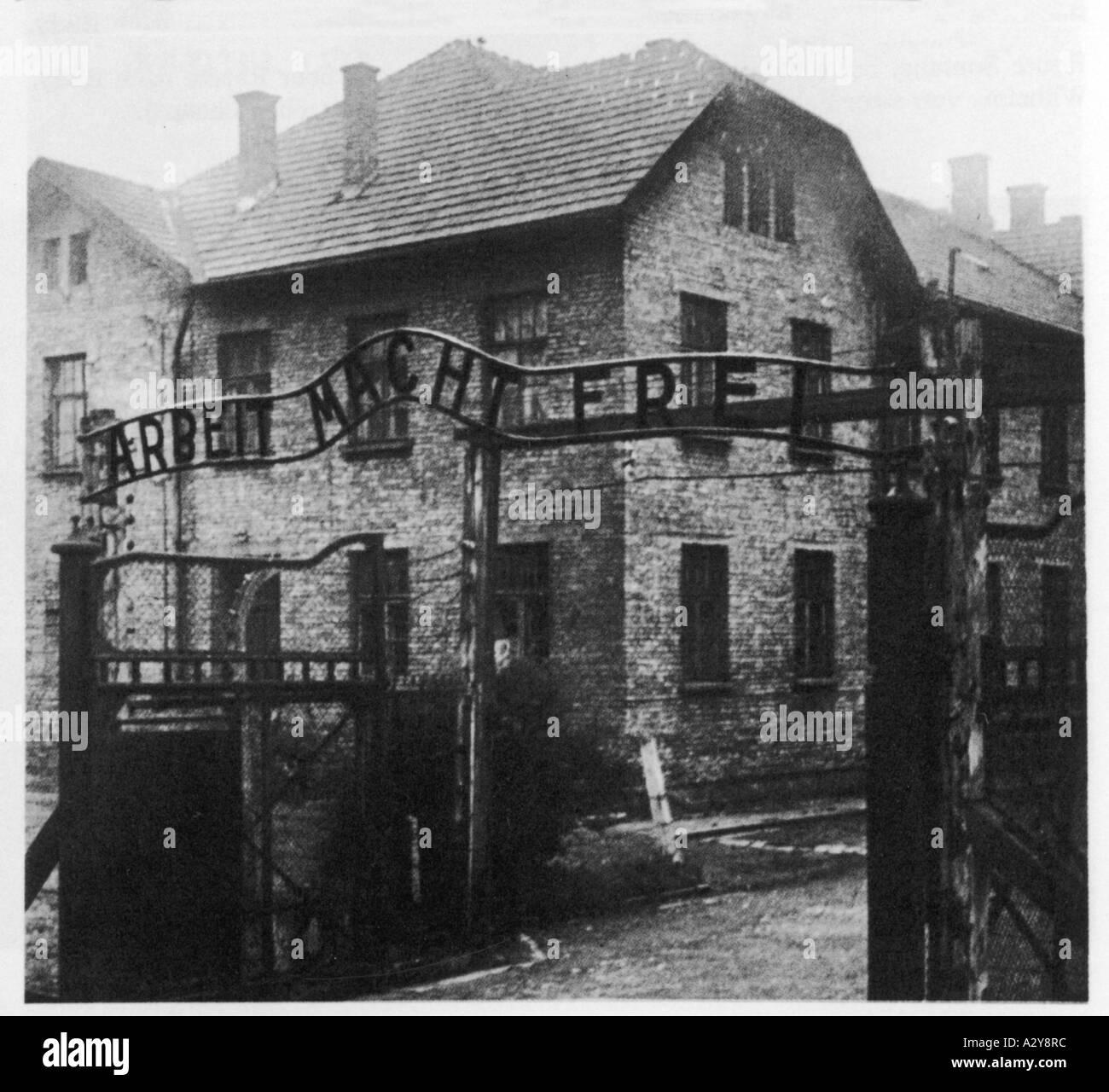 Gates Of Auschwitz - Stock Image