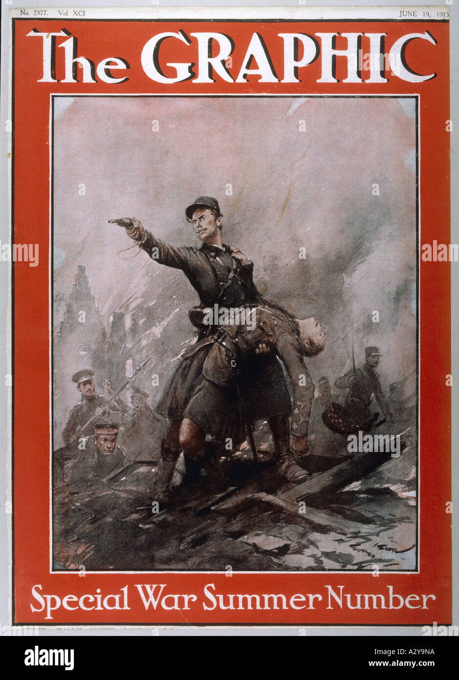 Wwi 1915 Graphic Heroic - Stock Image
