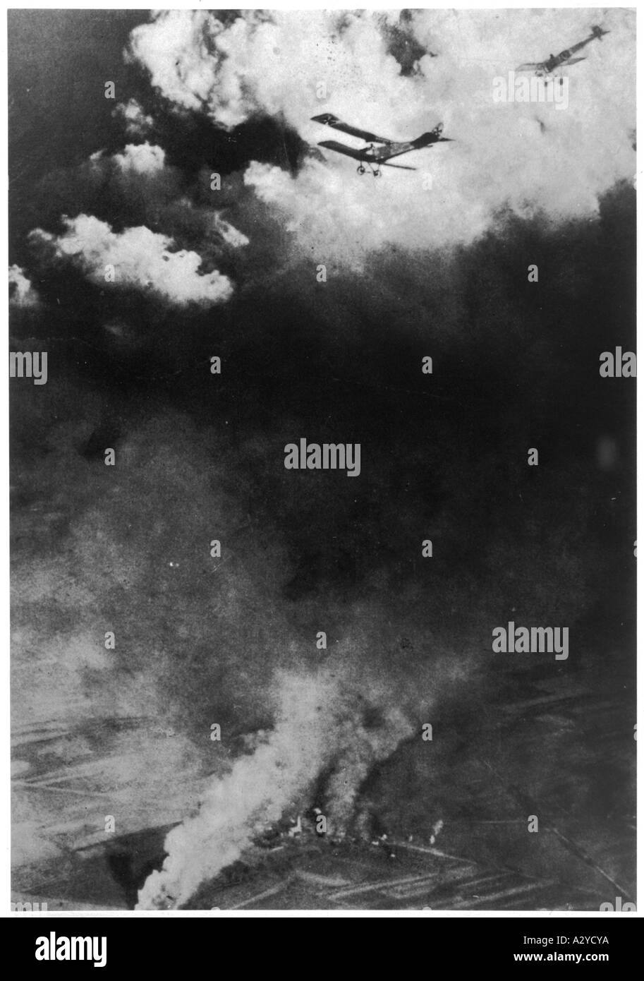 Wwi Russo German Air War Stock Photo