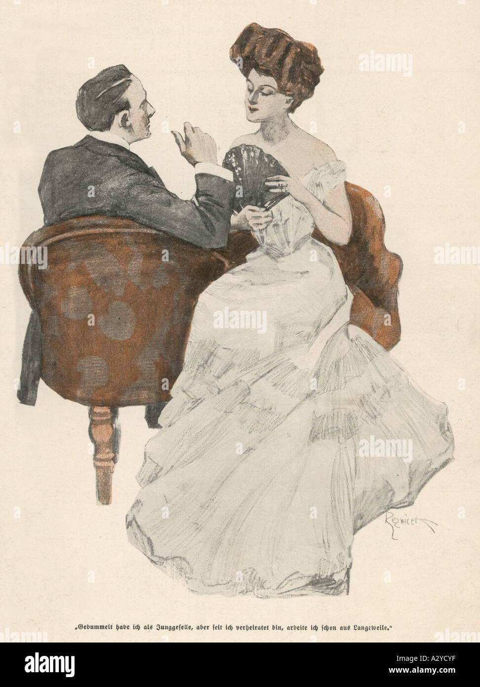 Two In Kissing Seat - Stock Image