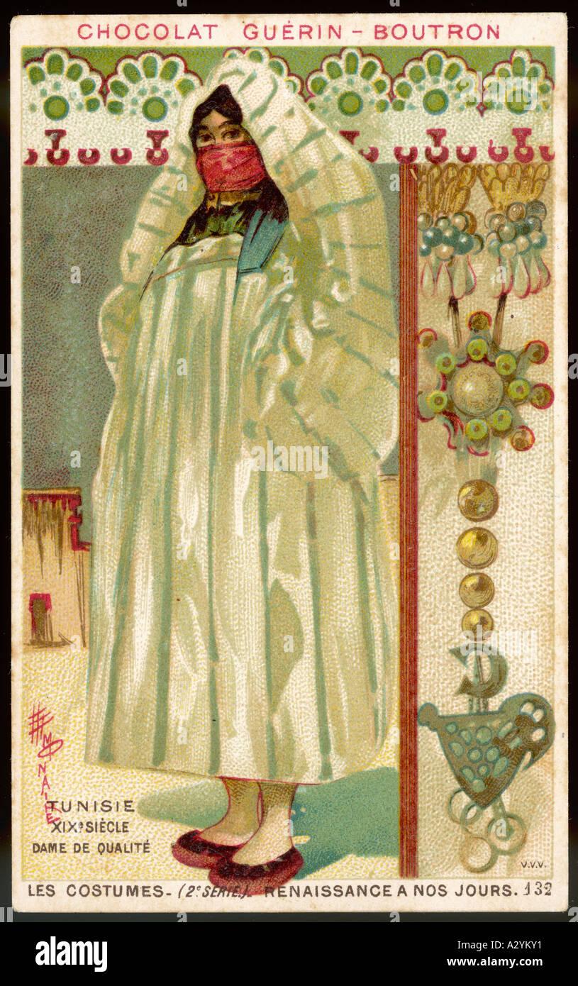 Costume Women Tunisian - Stock Image