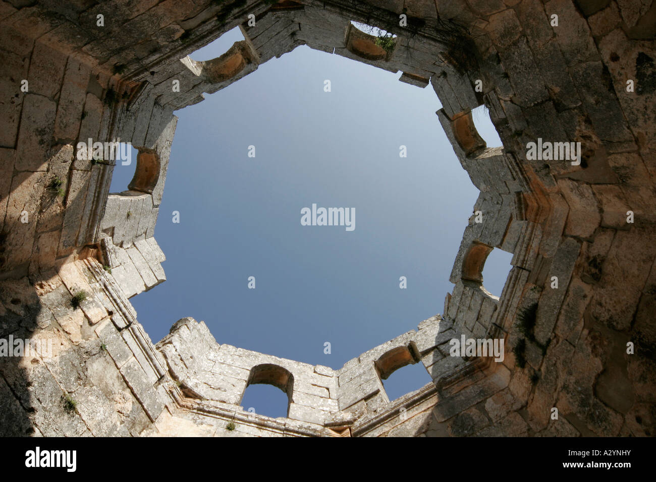 The roof of Basilica of St Simeon, Qalaat Samaan, Syria, Middle East - Stock Image