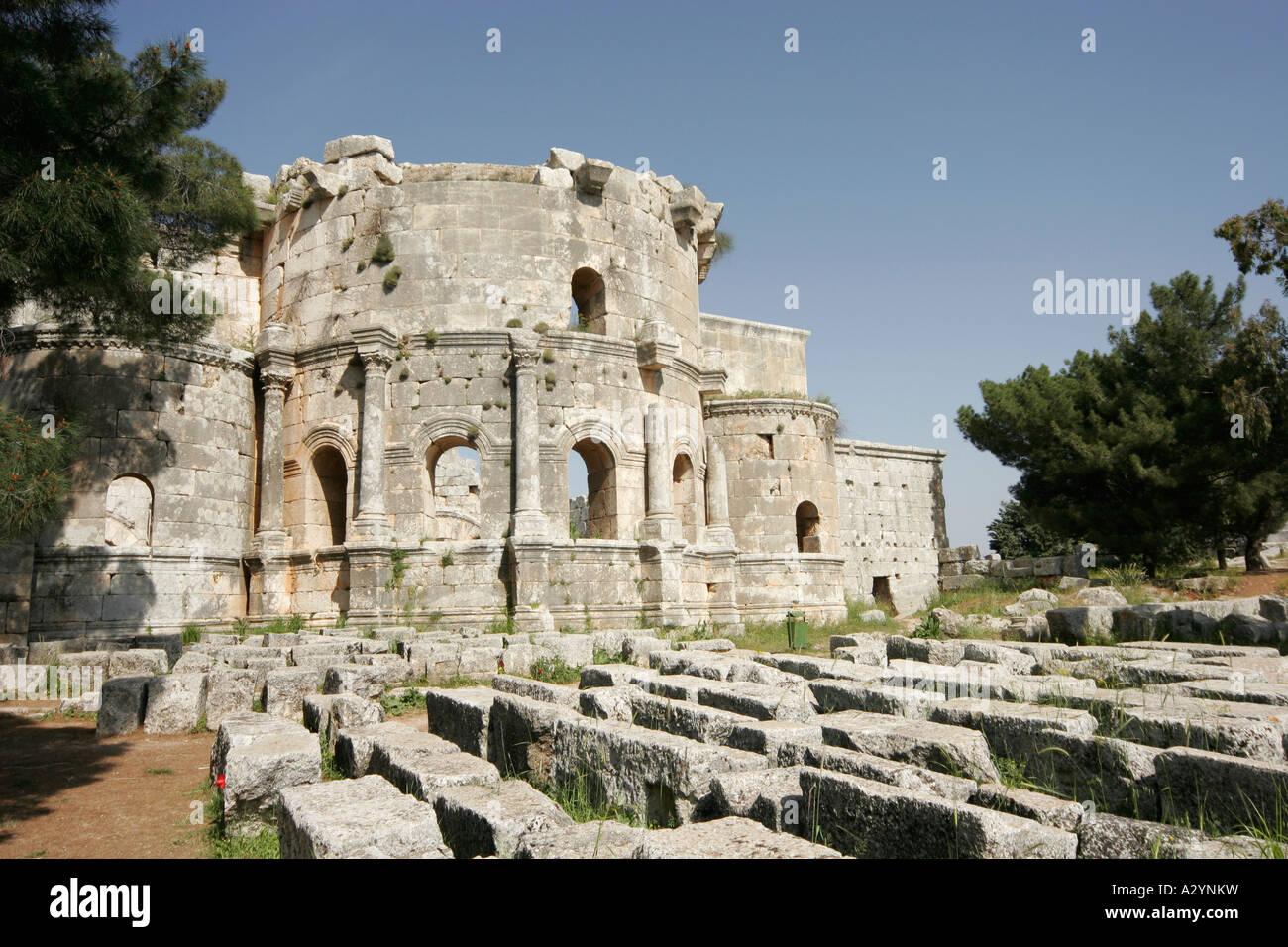 Basilica of St Simeon, Qalaat Samaan, Syria, Middle East - Stock Image