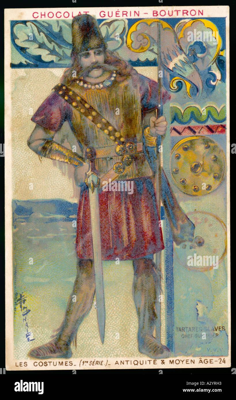 Tartar Slavonic Warrior - Stock Image