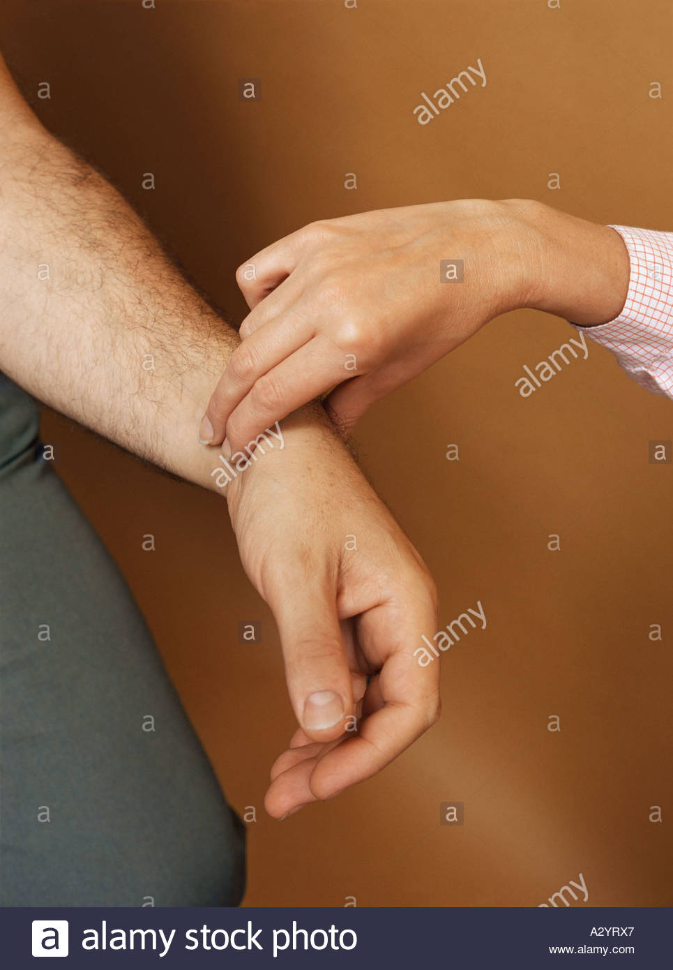 Taking a pulse - Stock Image