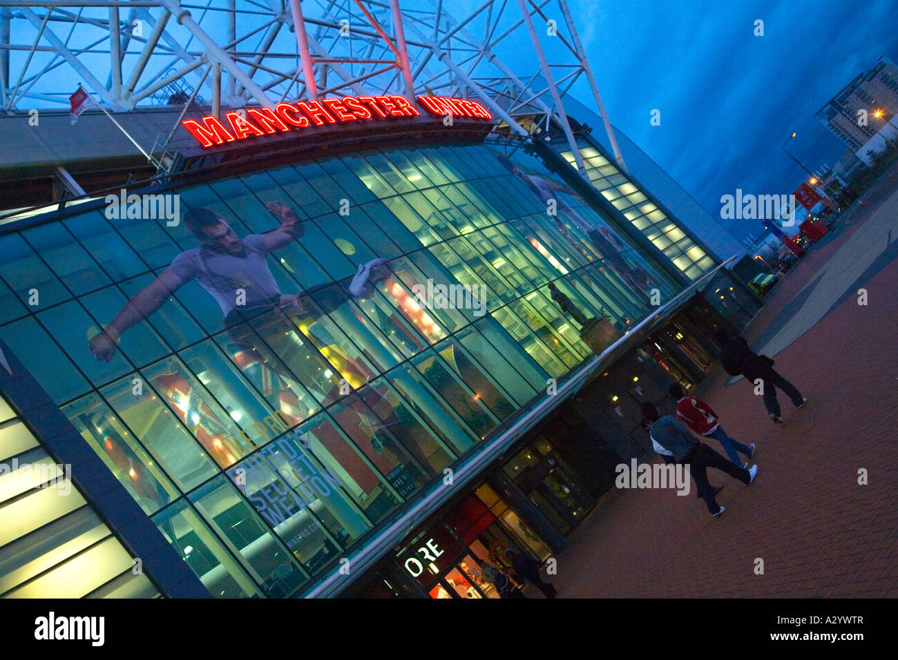 Old Trafford Soccer Stadium Manchester United Football Club home ground Manchester Lancashire England UK United - Stock Image