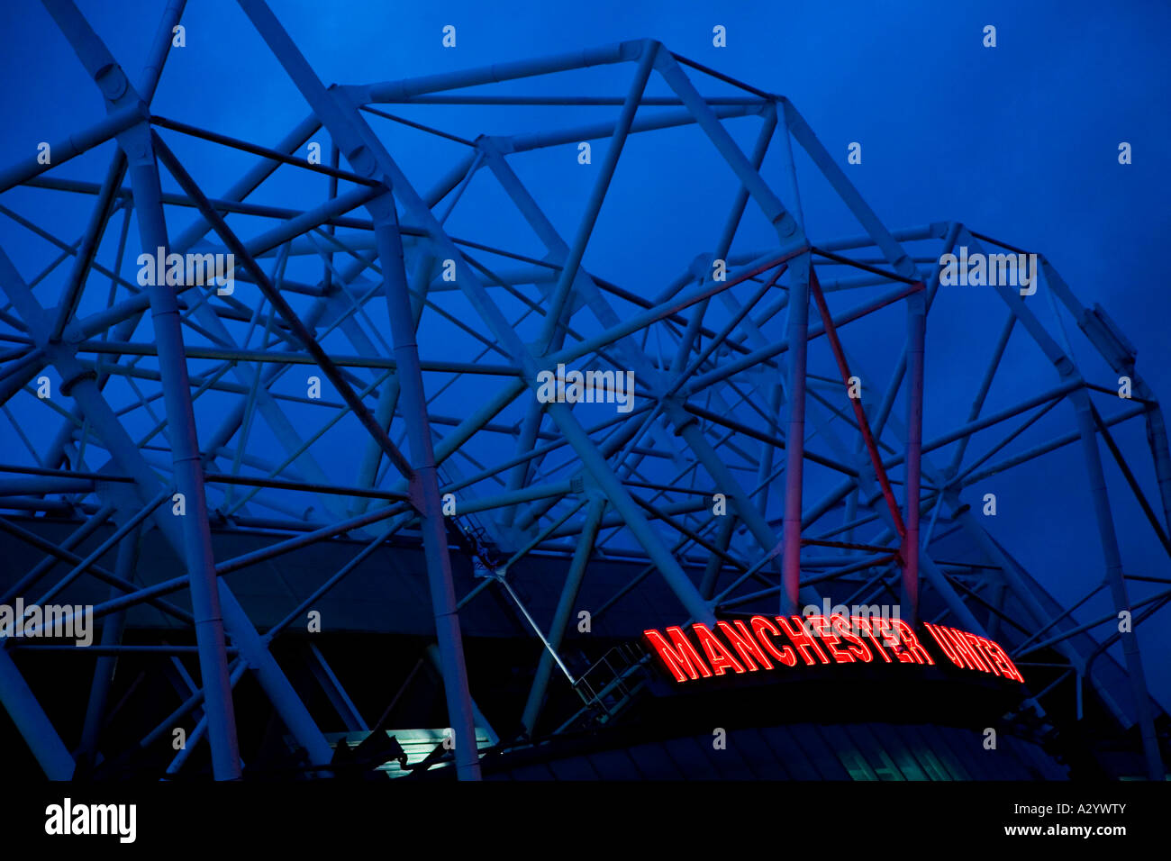 Old Trafford Soccer Stadium Manchester United Football Club home ground Manchester Lancashire England UK GB - Stock Image