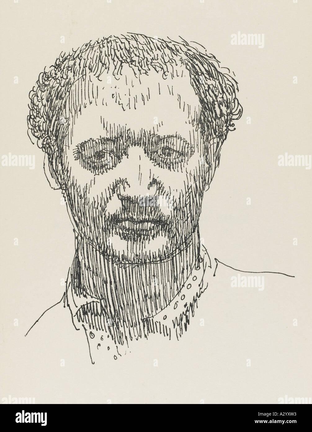 Jacob Epstein Evans 1922 - Stock Image