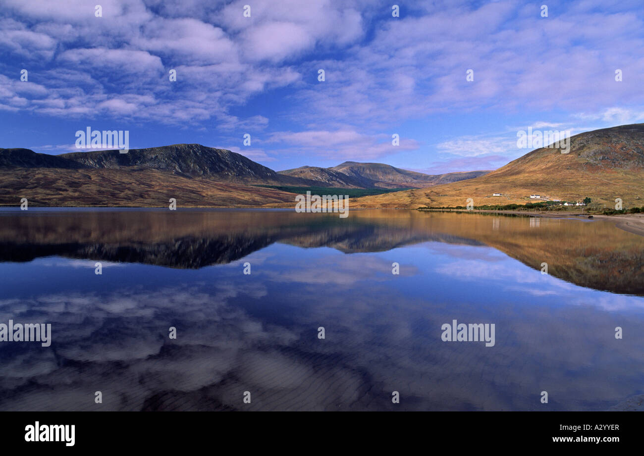 Lough Feeagh and the Nephin Beg Mountains, Co Mayo, Ireland. - Stock Image