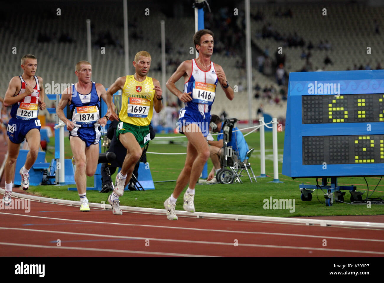 132e31a7b893ea Noel Thatcher of Great Britain in the Mens 10000m T12 final on September 20  2004 during