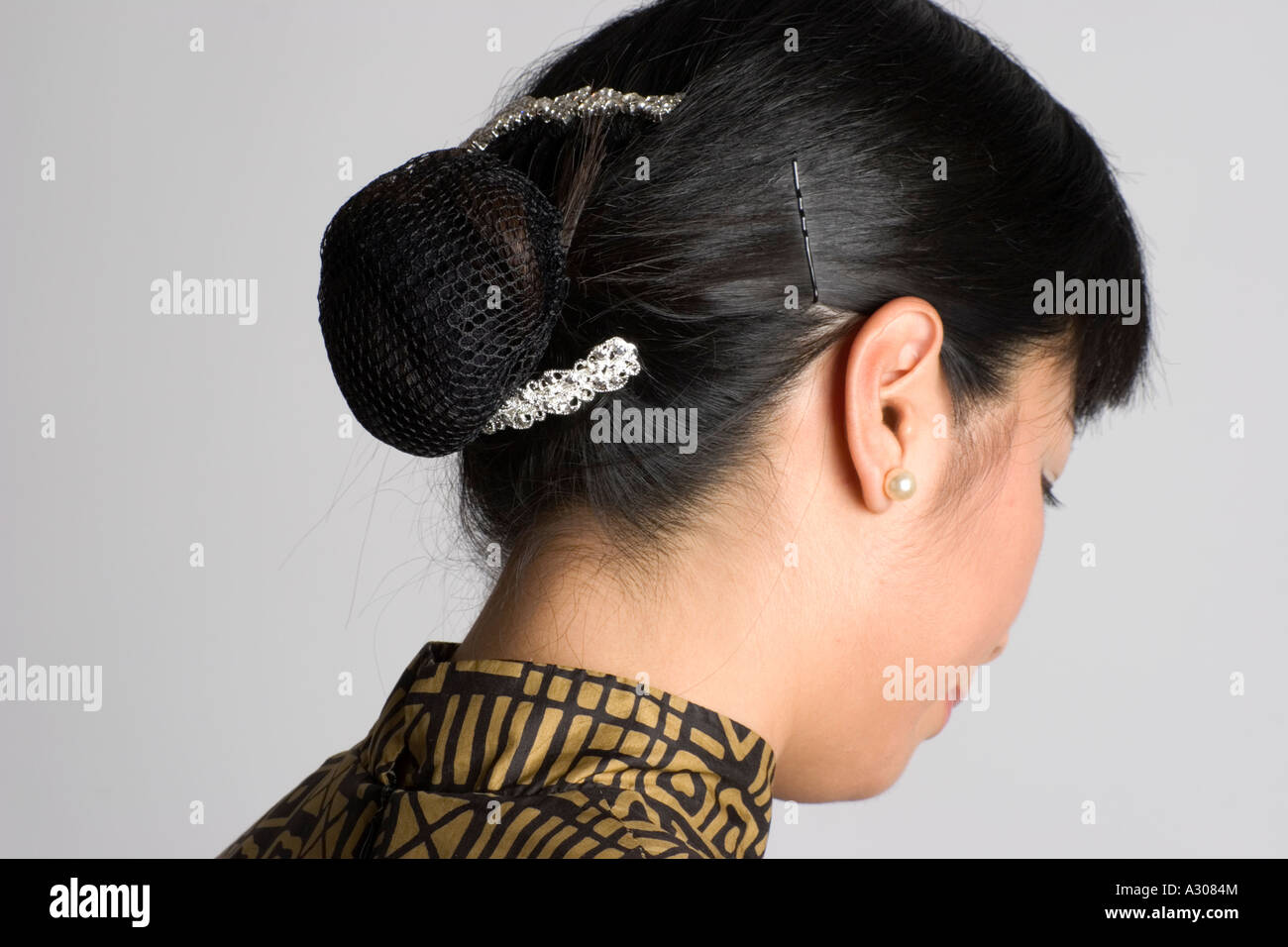 Chinese Woman With Hair Tied Back Stock Photo 10627507 Alamy