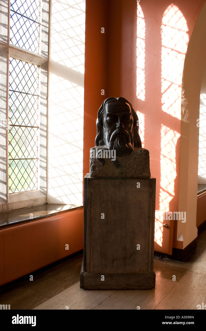 Statue of Jesus Christ in Corridor Maynooth College Ireland - Stock Image