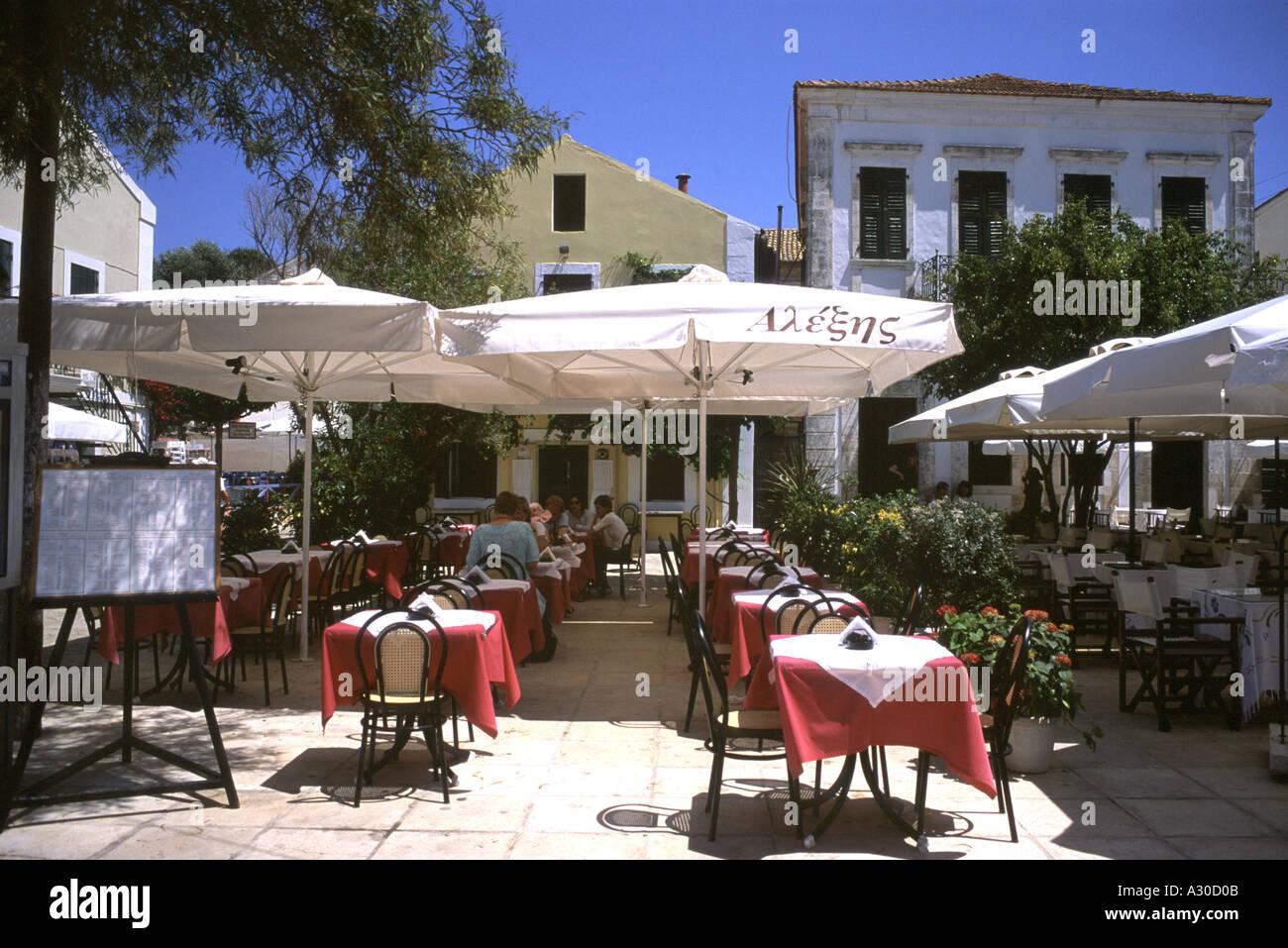 Taverna Restaurant Fiskardo Kefalonia Greece - Stock Image
