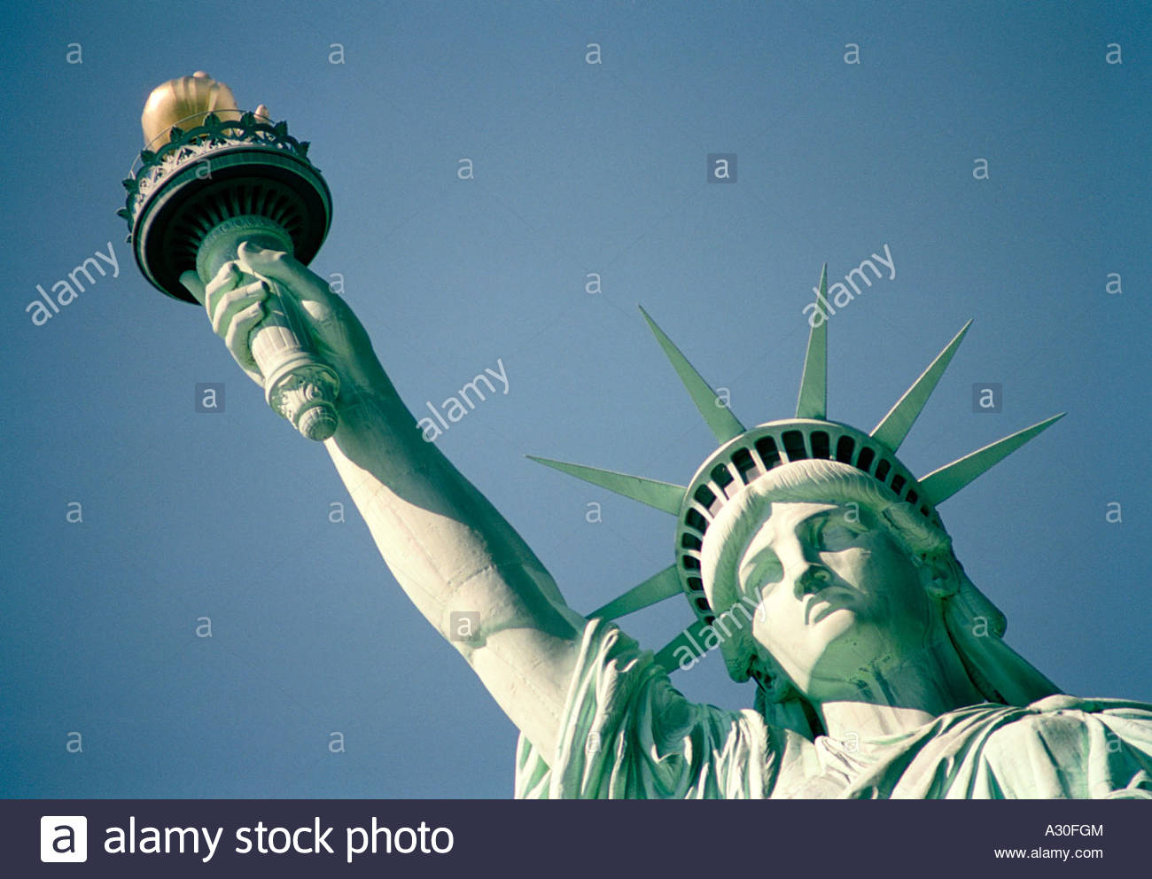 9ebcf041e830b The Statue of Liberty face and arm New York September Stock Photo ...