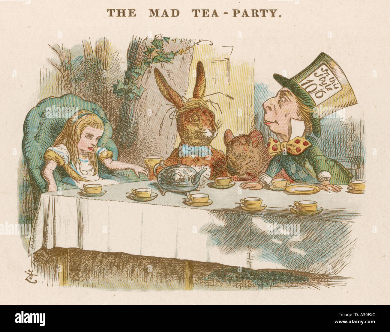 Mad Hatters Tea Party - Stock Image