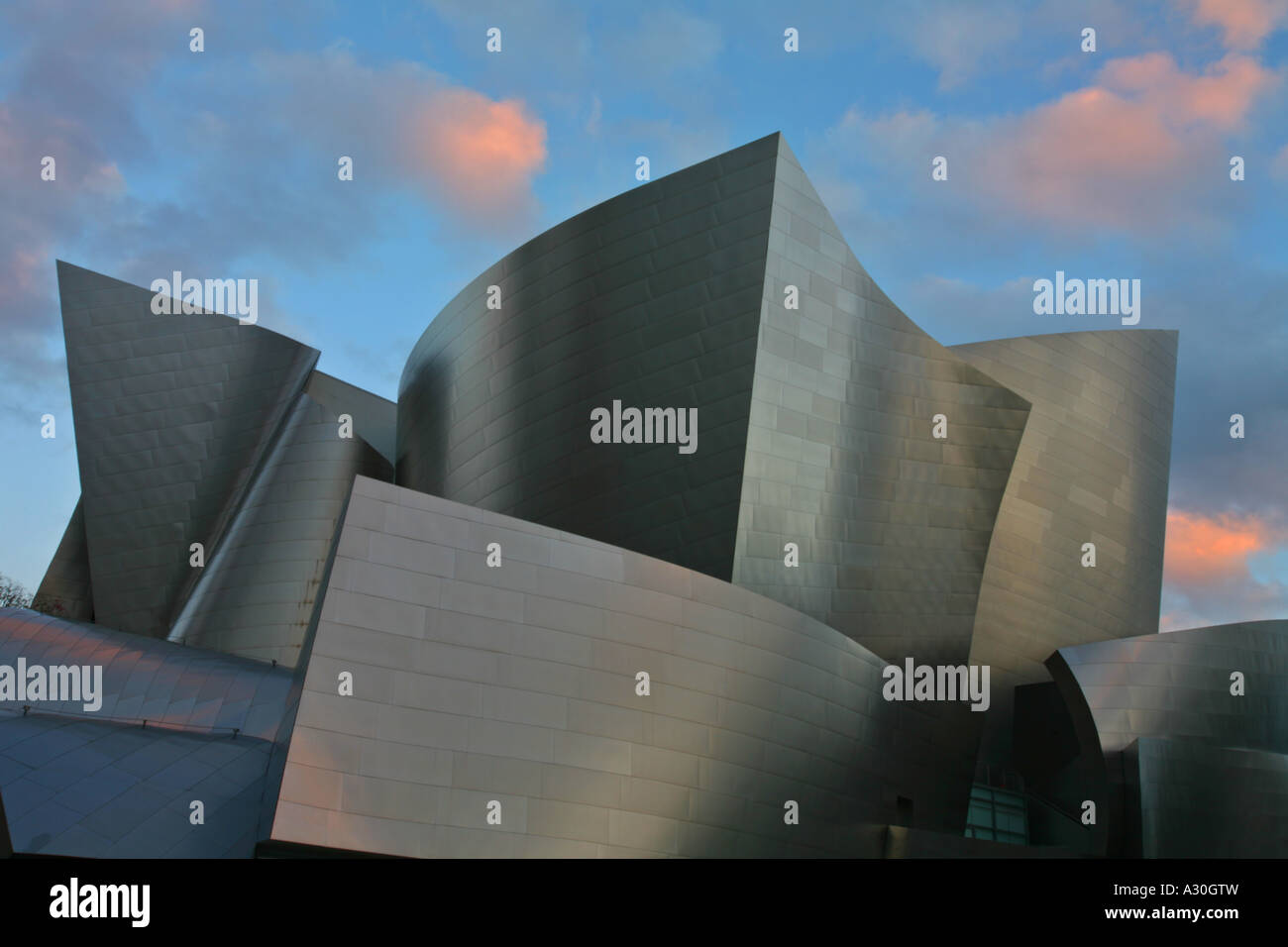 Exterior Walt Disney Concert Hall Downtown Los Angeles Los Angeles County California United States - Stock Image