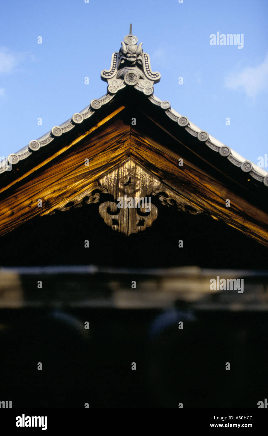 detail of a pagoda at the Daisen in temple Kyoto Japan - Stock Image