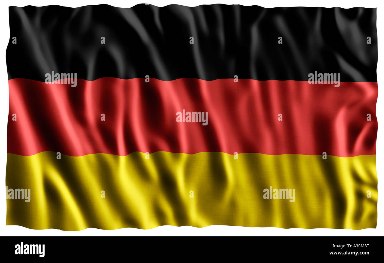 National flag of Germany - Stock Image