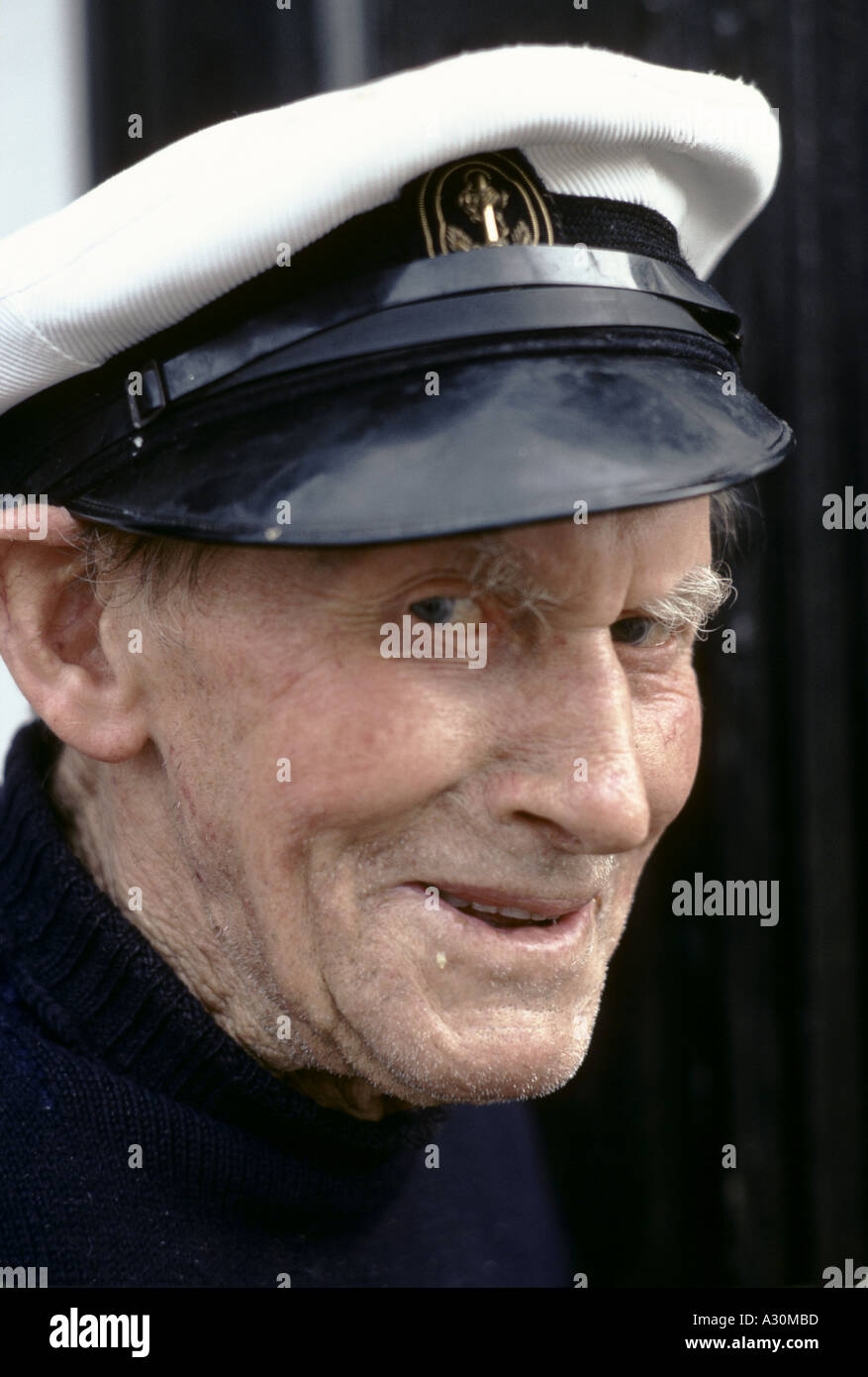 old man with sailors cap Stock Photo  3470524 - Alamy 4fc0b1a0a35