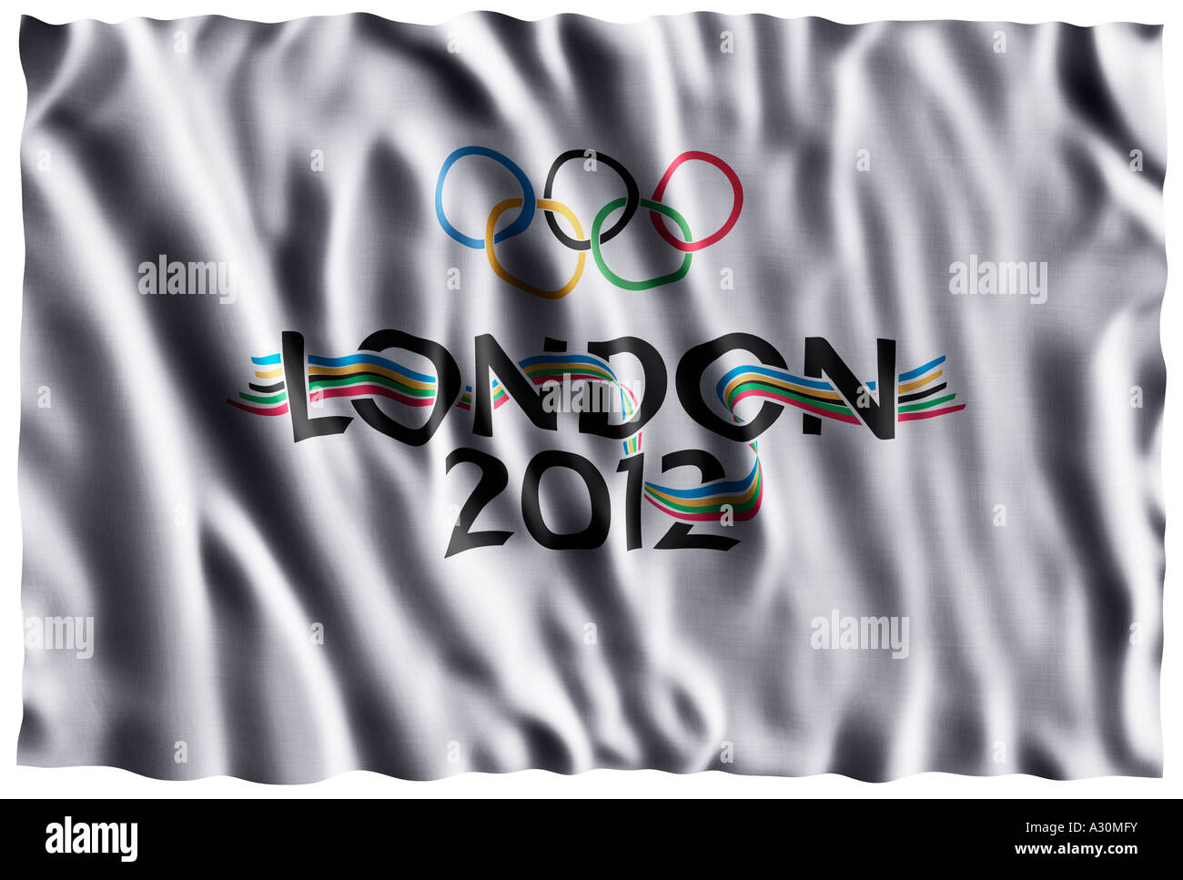 London 2012 Olympic flag - Stock Image