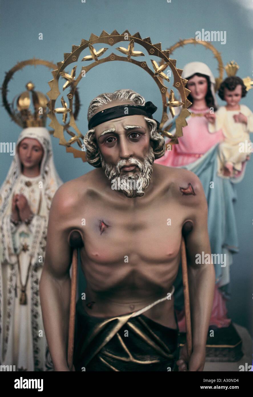 Lifelike statue of Jesus Christ, 'Little Havana', Miami, USA - Stock Image