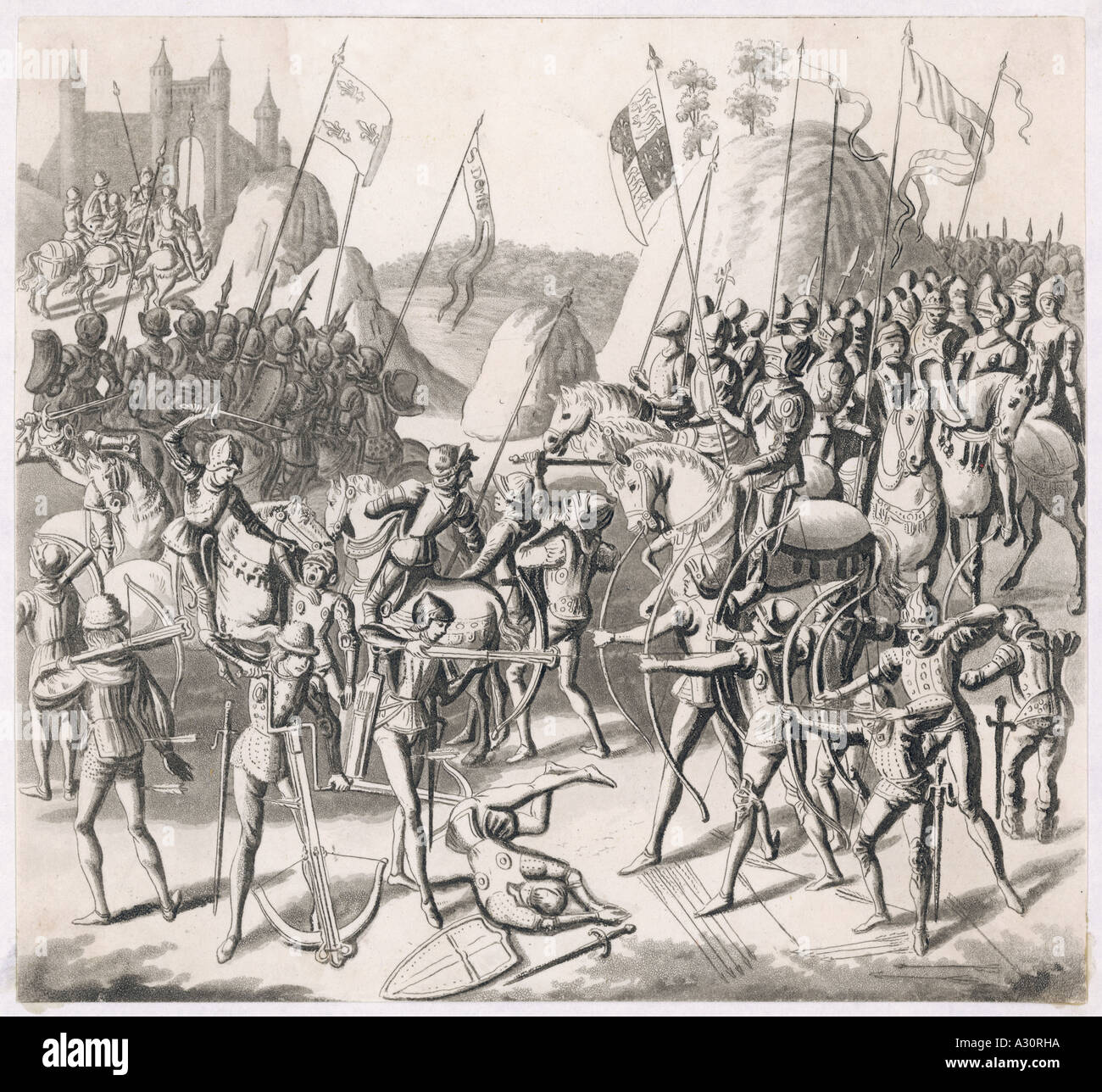 Battle Of Crecy 1346 - Stock Image