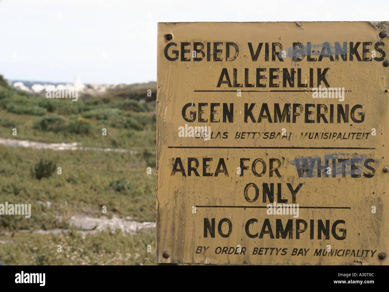 whites only beach kleinmond south africa 1988 1988 - Stock Image
