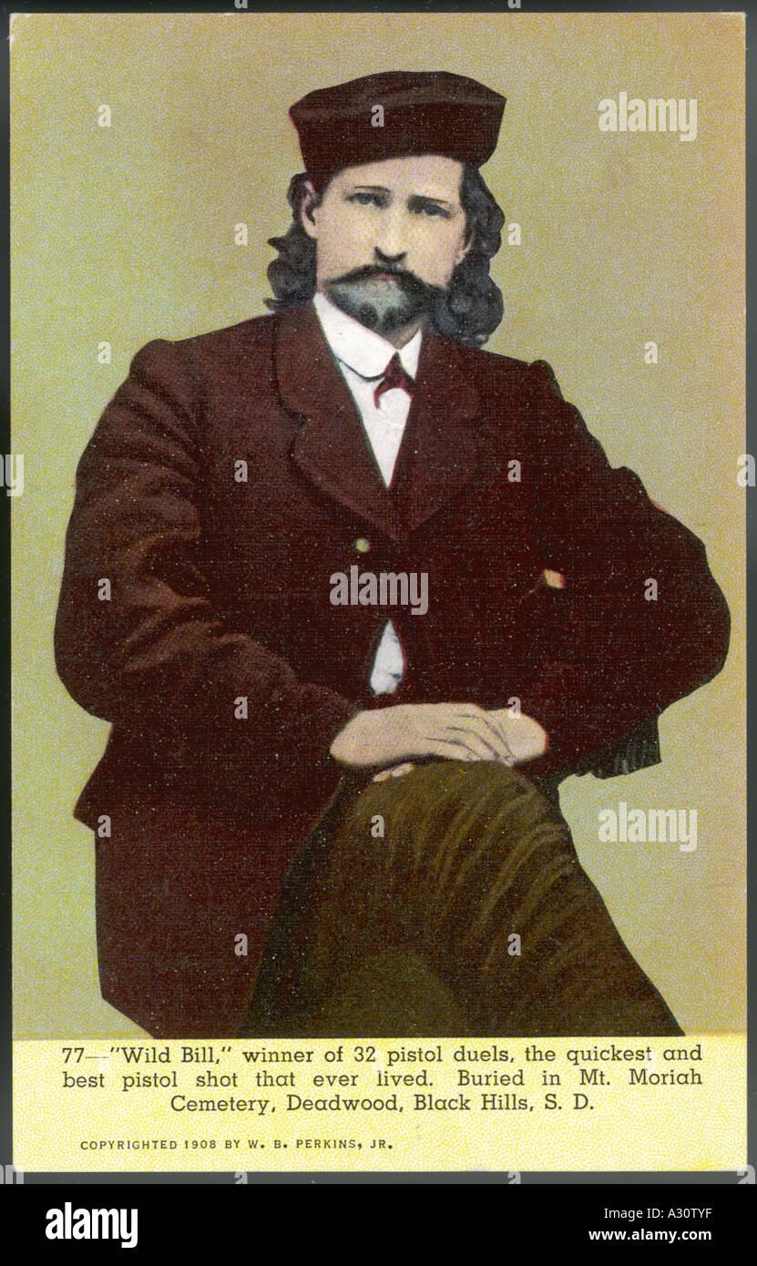 Wild Bill Hickok Postcd - Stock Image