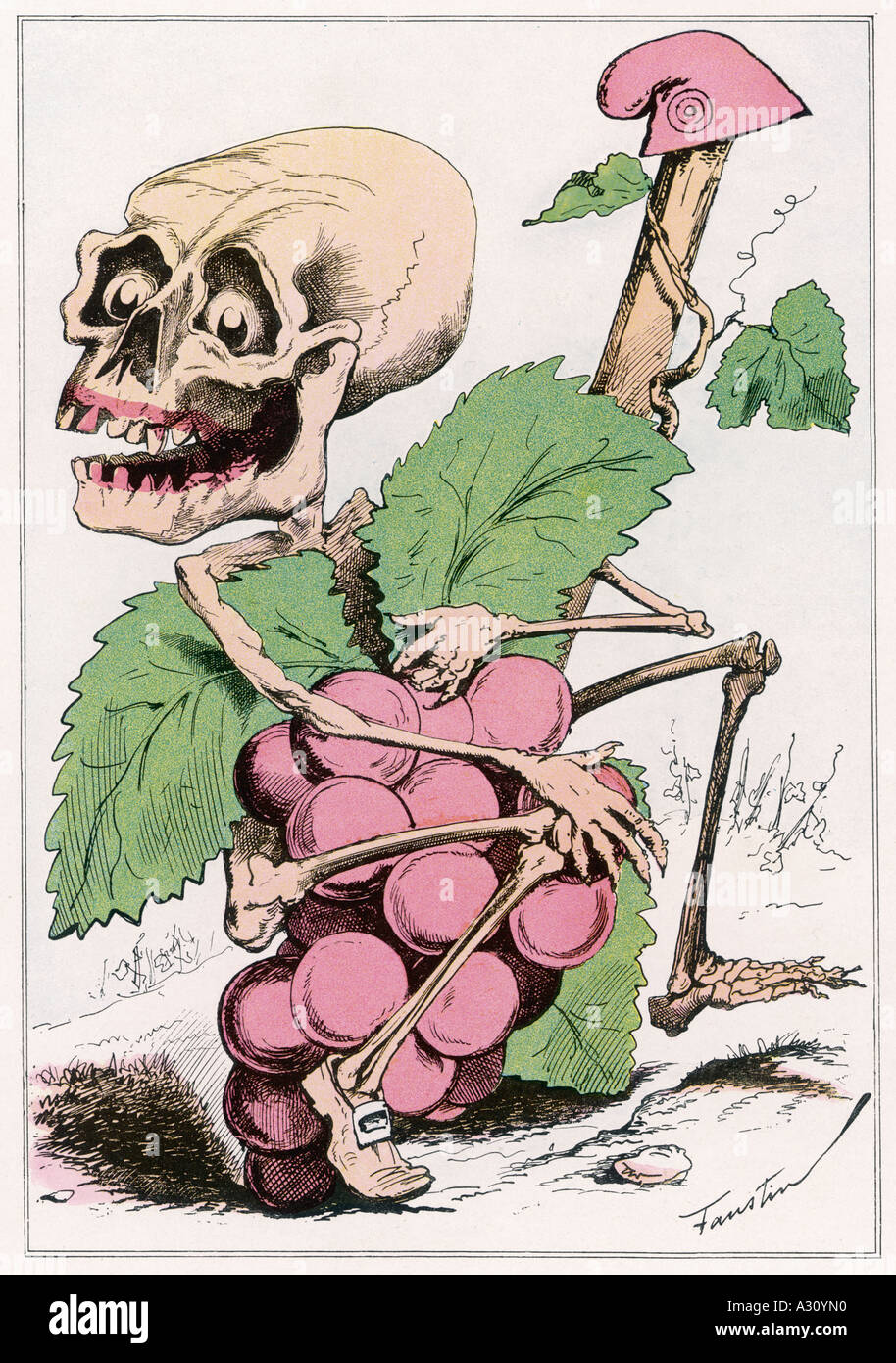 Bloody Harvest 1870 Stock Photo